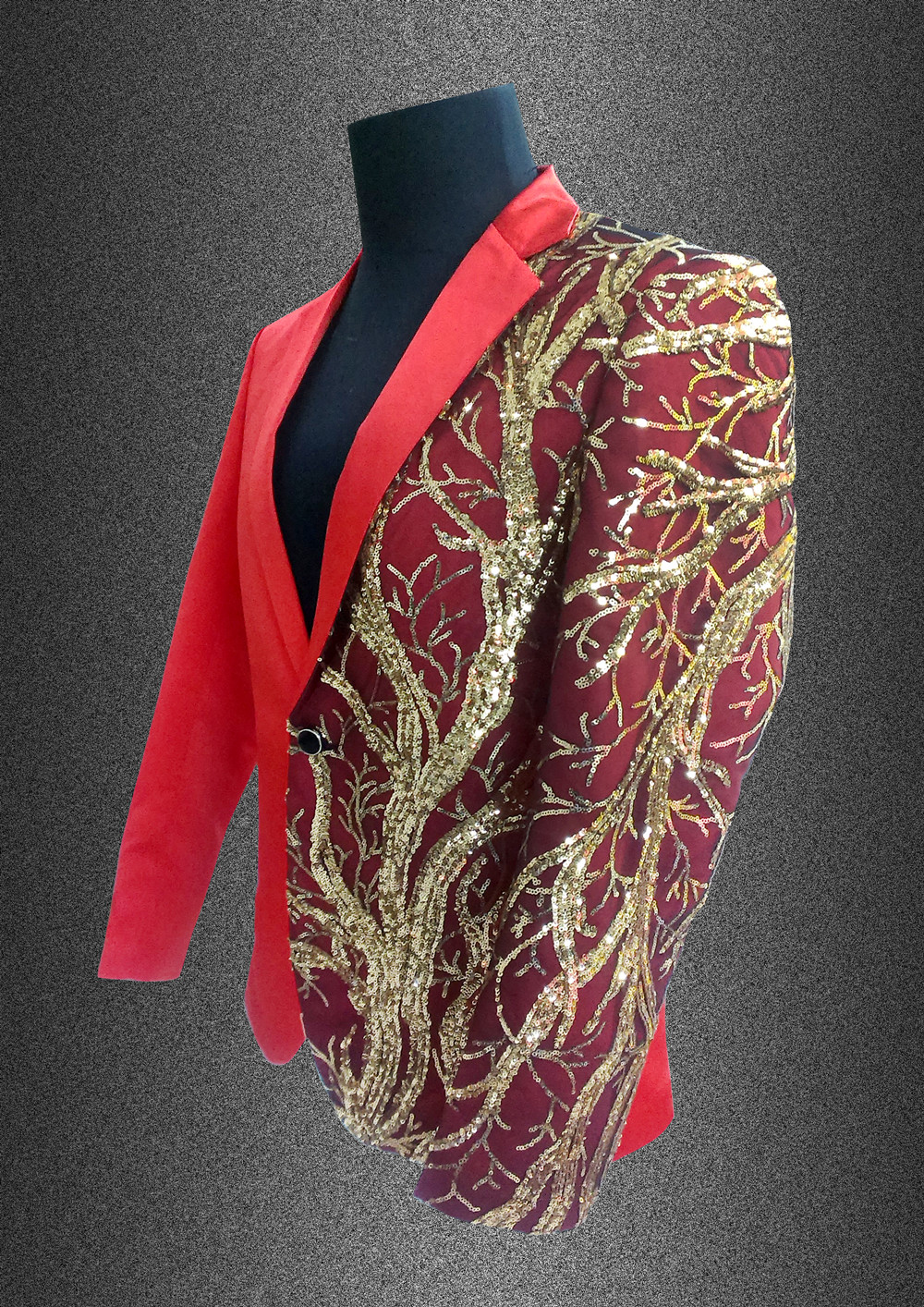 singer blazer Male formal dress costume men's clothing paillette suits clothes for dancer star performance nightclub party bar 5