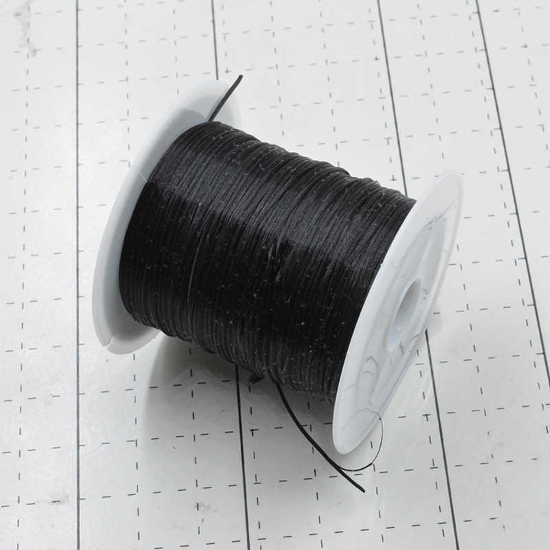 Black 10M/Roll Colorful Stretchy Elastic Rope Cord Crystal String for Jewelry Making Beading Bracelet Wire Fishing Thread Rope