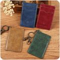 Leather Key Ring Wallet Credit ID Card Holder Credit Card Wallet Women Business Namecard Wallet