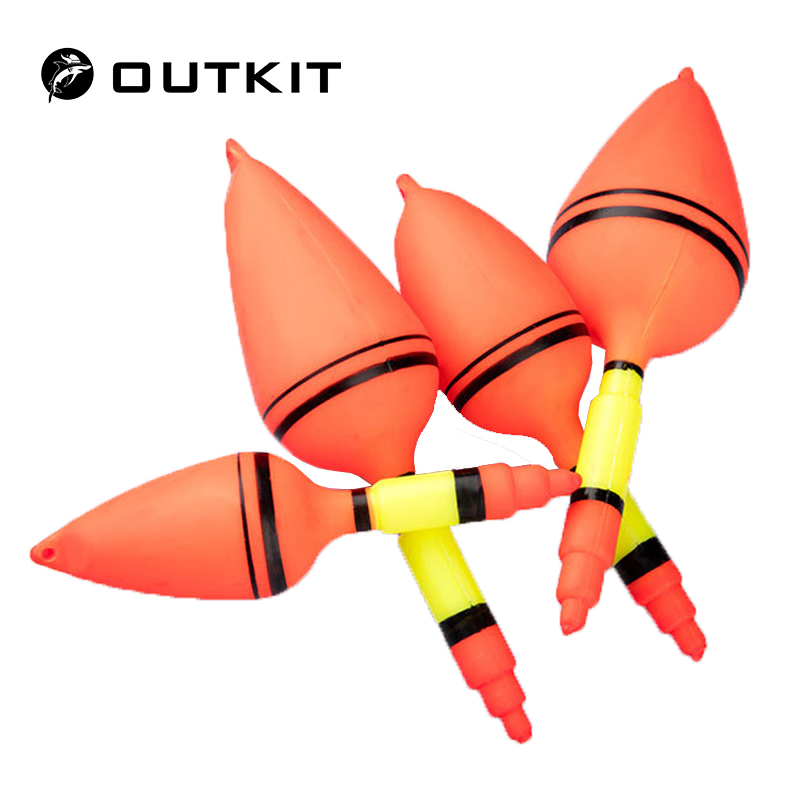 OUTKIT Fishing Float Plastic Balls Stopper Buoy Boia Flutter To Remind Fish Bite Hooks lures Lightstick Fishing Tackle Tools