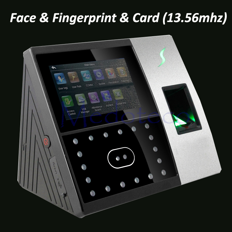 Biometric Face & Fingerprint * 13.56mhz IC Card Time Attendance Iface702 Face Recognition System Face Employee Time Clock