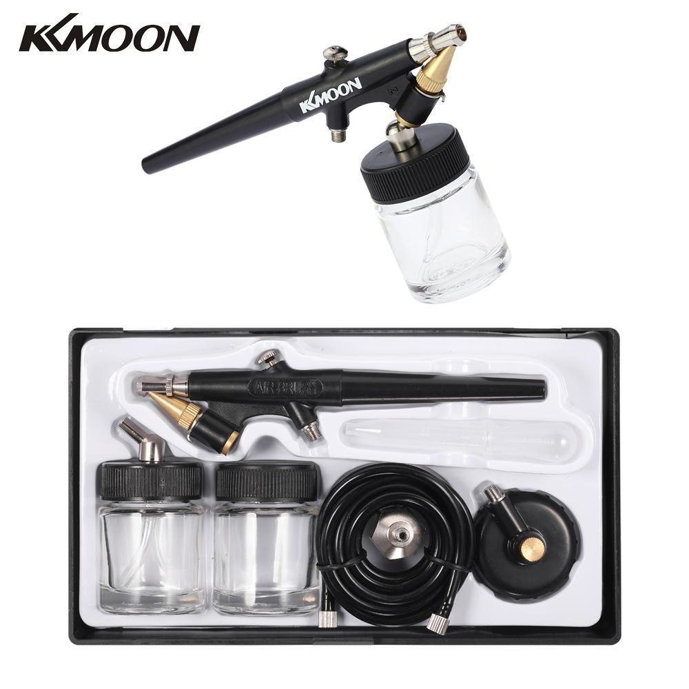 KKmoon Haute Atomisation Siphon Rss Aérographe Simple Action Air Brush Kit pour le Maquillage Art Peinture Tatouage Manucure 0.8mm Pulvérisation pistolet