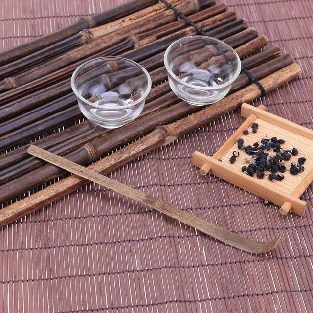 Environmental 18cm Handmade Bamboo Chashaku Matcha Tea Scoop Retro Japanese Green Tea Ceremony Matcha Scoop Tea Sticks Tool