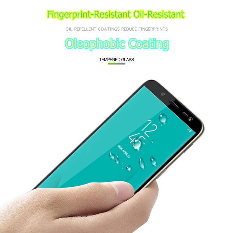 شاشة واقية جميع غطاء الزجاج المقسى لسامسونج J6 2018 J600 9 H 5.6 بوصة الهاتف الذكي تشديد عرض الحالات على بلورات