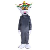 Madagascar King Julian Lemur Lemuroid Lemuridae Mascot Costume Cartoon Character Mascotte for Adult Halloween party