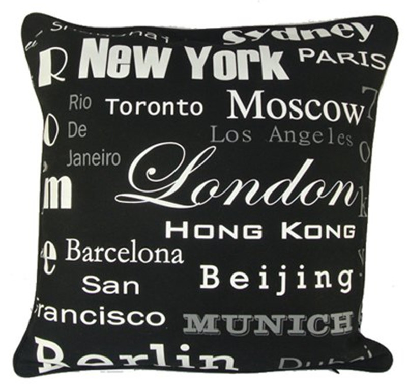 aliexpresscom buy modern black white hot cities new york paris london printed fashion decorative pillow case art cushion cover sham 45cm x 45cm from - Black And White Decorative Pillows