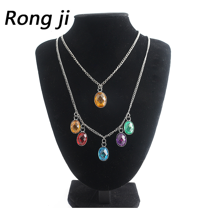 Infinity Stones Thanos Charm Necklace Men Women Avengers