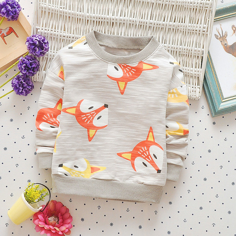 Casual-Autumn-Baby-Babi-Children-Girls-Boys-Infants-Printed-Cartoon-Fox-Cotton-Long-Sleeve-T-shirt-Tops-Tee-Clothes-S5571-3
