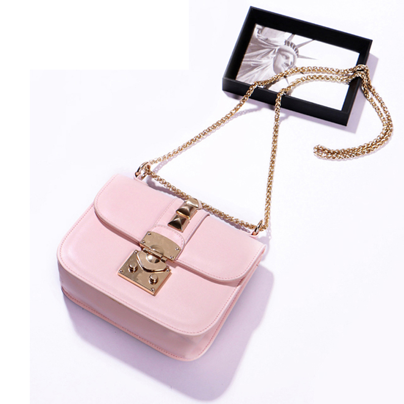 2017 New Women Candy Color bag Ladies Rivet leather Crossbody Shoulder bag Small Mini Party bags