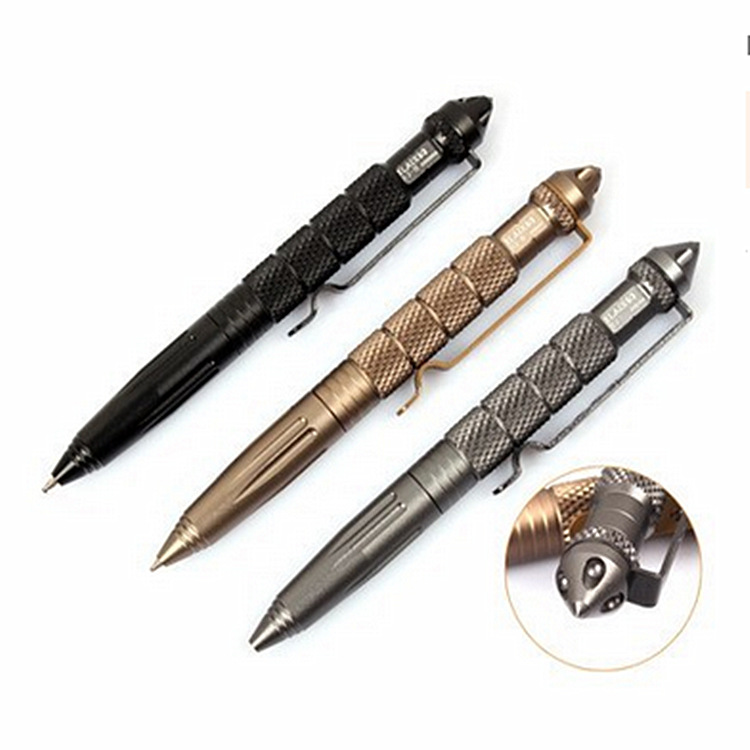 Black Portable Outdoor Camping Survival Tactical Pen Emergency Military Self Defense Weapon Multifunctional Emergency Hammer fire maple sw28888 outdoor tactical motorcycling wild game abs helmet khaki