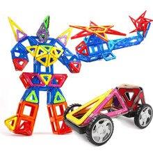 39PCS Mini Magnetische Designer Bau Set Kunststoff Konstruktor Aufkleber DIY Blöcke Tiere Roboter Gebäude Auto Pädagogisches Spielzeug