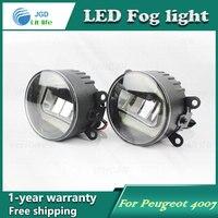 Super White LED Daytime Running Lights For Peugeot 4007 Drl Light Bar Parking Car Fog Lights 12V DC Head Lamp