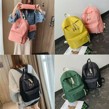 Backpack Women Canvas Travel Bookbags School Bags for Teenage Girls 3pcs