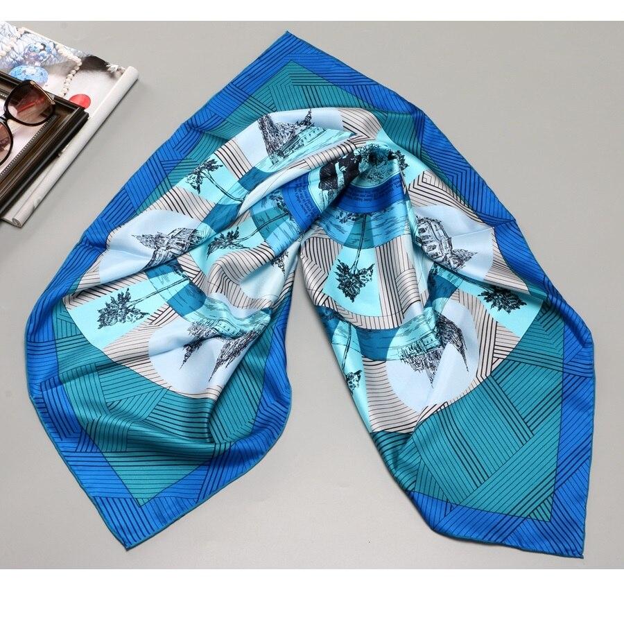 Large Square 100% Silk   Scarf     Wraps   Shawl Women Fashion Hijab Head   Scarves   Foulard 35