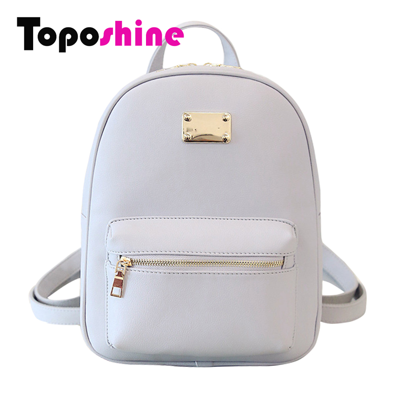 Toposhine Fashion Women Backpack For Girls 2016 Backpacks Black Backpacks Female Fashion Girls Bags Ladies Black