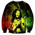 2016 Autumn and winter New Fashion Sweatshirt Mens/Womens Bob Marley Rasta 3D Print Casual Sweatshirt free shipping