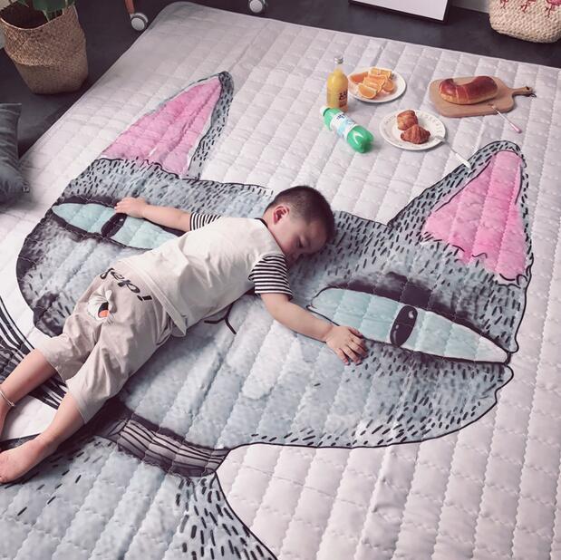 140X200 CM tapis nordiques pour salon imperméable à l'eau en plein air pique-nique tapis zone tapis enfants tapis de jeu anti-dérapant maison grand tapis pad