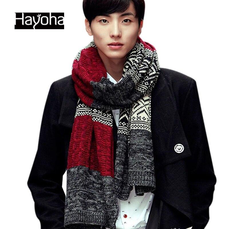 Hombres 2016 nuevo Otoño e invierno moda bufandas hombres y mujeres caliente bufandas de lana bufanda