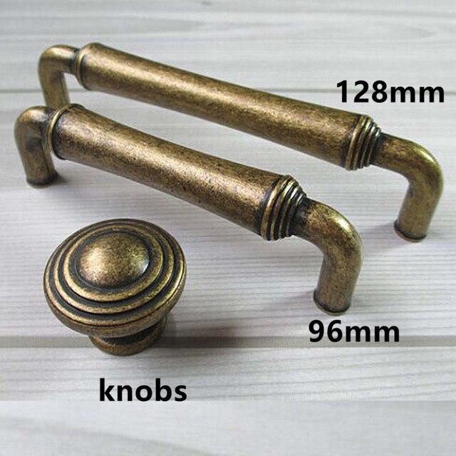 96mm 128mm Vintage Style Furniture Handles Bronze Kitchen Cabinet Drawer Pulls S Antique Br Dresser Door Retro