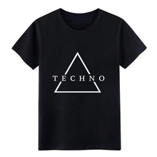 techno white me n s jersey t shirt designer 100% cotton size S-3xl streetwear Loose Breathable Spring slim