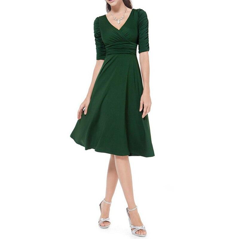 673ea3f91 Mujeres Trabajo Vestido Más El Tamaño del Estilo de La Vendimia Oscilación  1950 s 60 s
