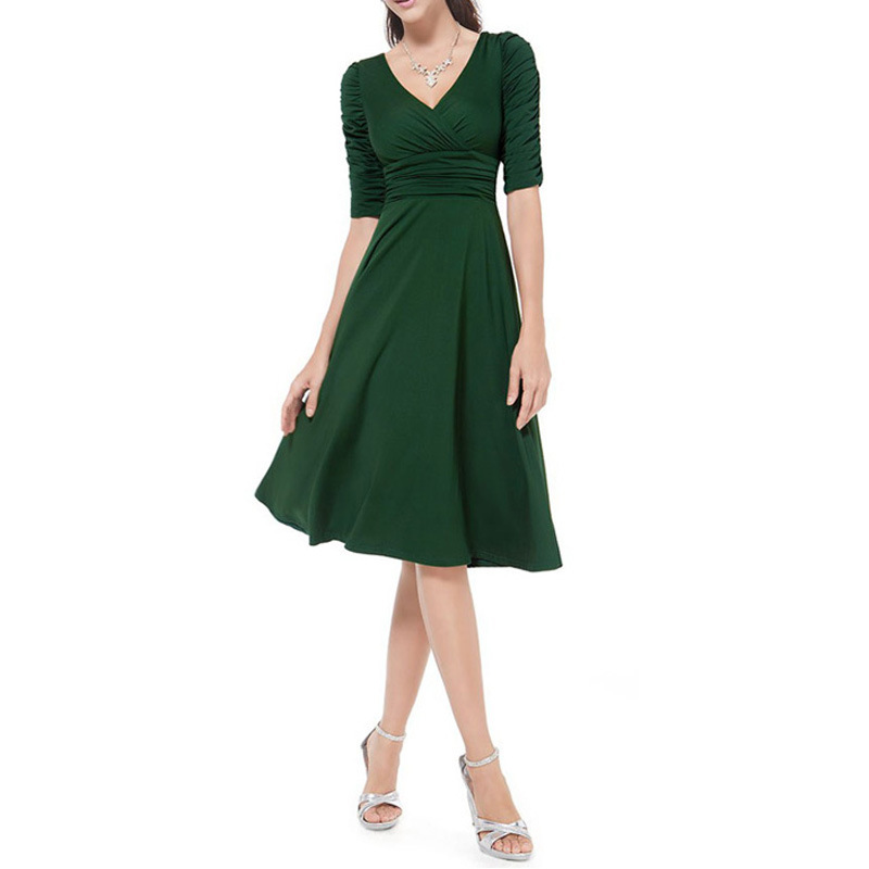 Womens Work Dress Plus Size Vintage Style Swing 1950s 60s Retro