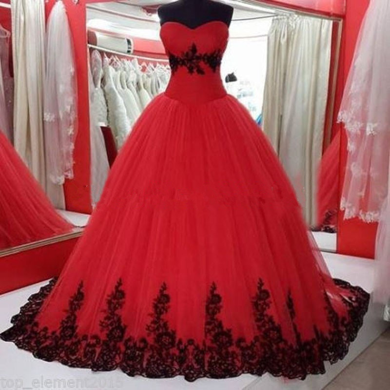 Online Get Cheap Red Black Wedding Dress -Aliexpress.com - Alibaba ...