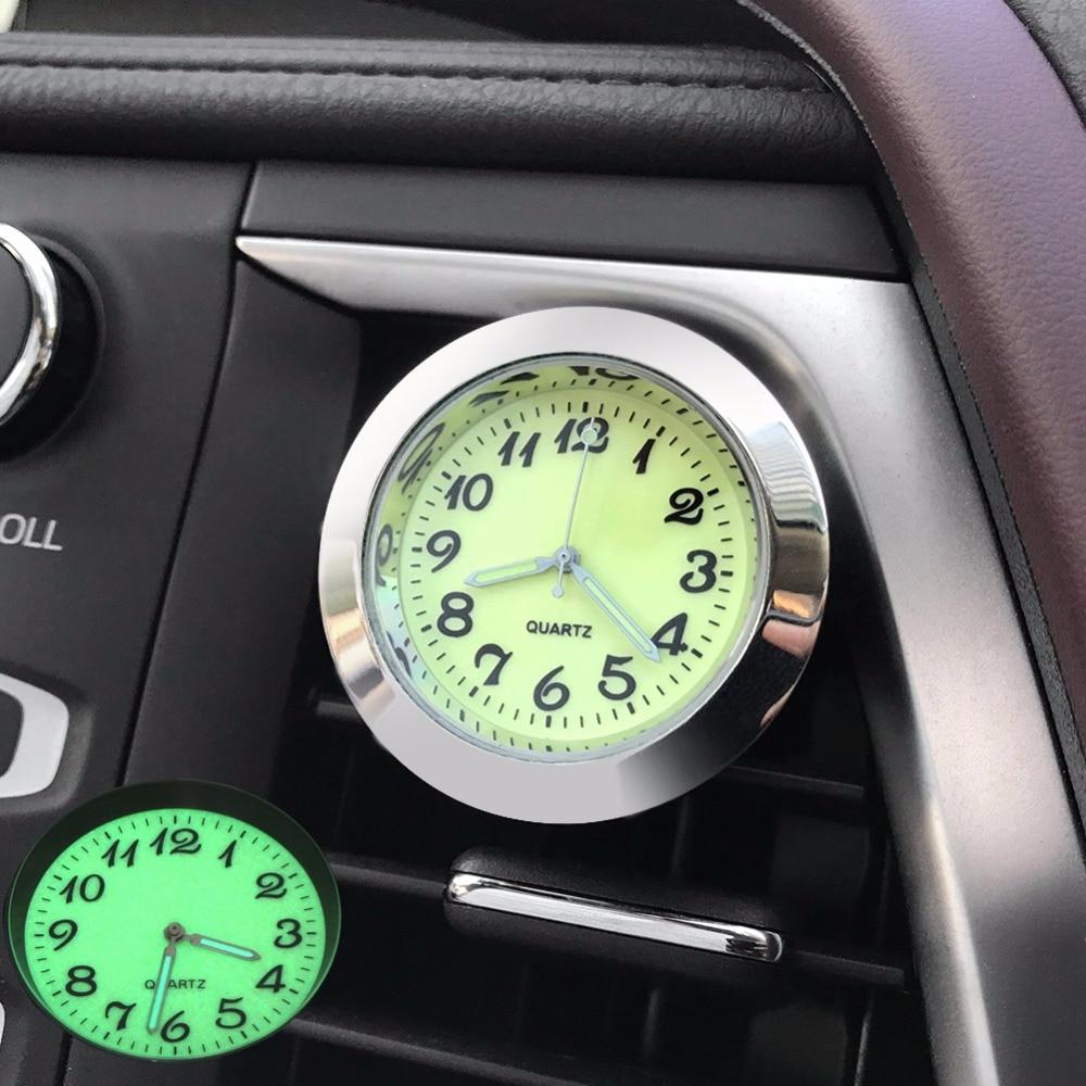 Car Clock Vents Clip Ornament Air Freshener Luminous Automotive Watch Automobile Interior Digital Quartz Clock Display Ornaments