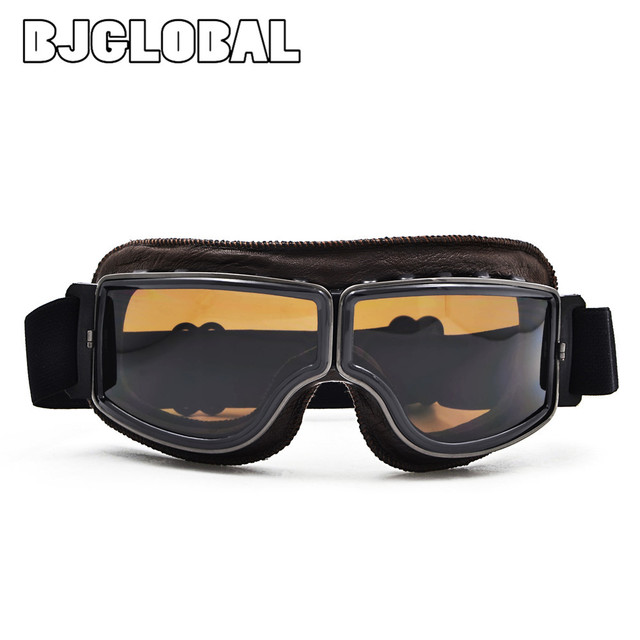 bedb4ca4fe GT-011T 2017 NEW WWII Vintage Harley style motorcycle gafas motocross moto  goggles Scooter Goggle