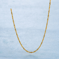 Pure 24K Yellow Gold Full Star Chain Necklace 999 Gold Fashion Women Necklace 2 2 2