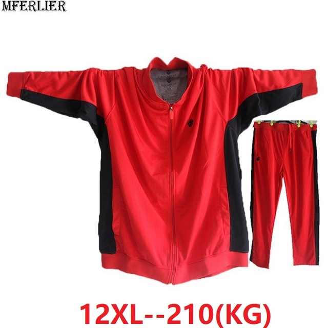 $ US $46.20 spring men patchwork jackets Sweatshirts zipper sports hoodies fleece large size big 9XL 10XL 11XL 12XL jacket loose 68 70 72 74