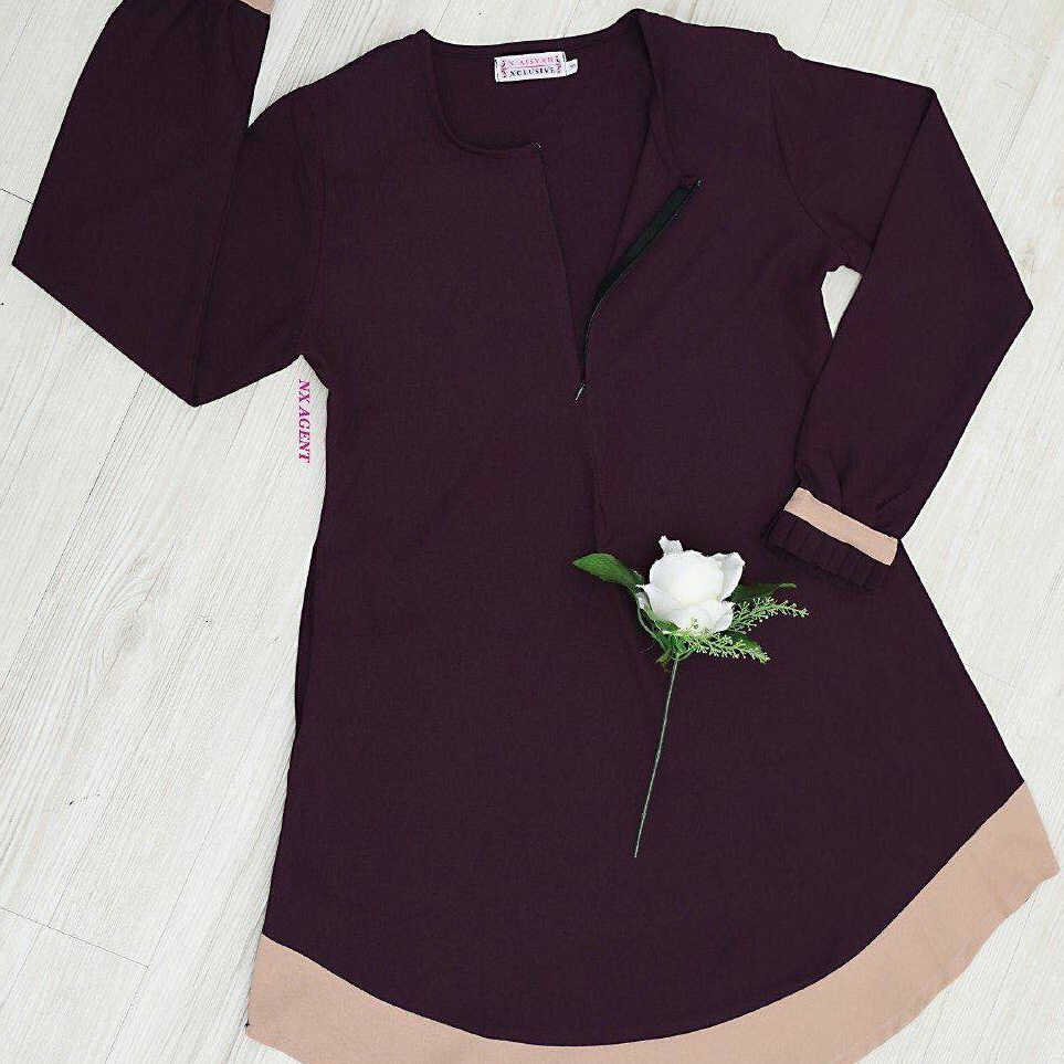 F817 مسلم ملابس طويلة الأكمام قمصان للنساء بلوزة فضفاضة تنحنح