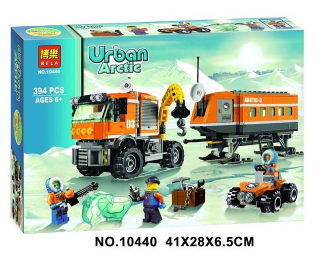 394 unids 2016 BELA 10440 Ciudad Ártico Puesto Policías building blocks Figuras Modelo Juguetes Ladrillos de celda de la cárcel