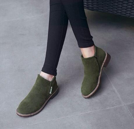 Autumn Winter women Boots Classic Zipper shoes snow boots 4