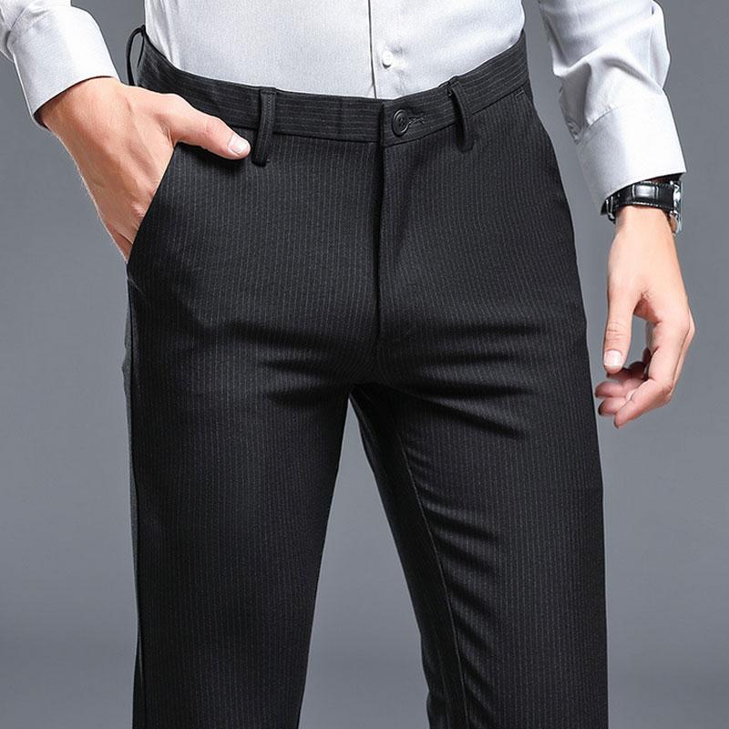 Scarni Design Stile 2018 Maschile A Pantaloni Abito Slim Degli Formale Fit  Abiti Di Matita Coreano Modo Uomo Dei Lunghi Della ... 07e3c9e6efe1