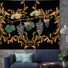 Vintage Style retro pattern grapes wall hanging Oil painting texture fruit Tapestries Psychedelic Wall carpet Hanging Home Decor