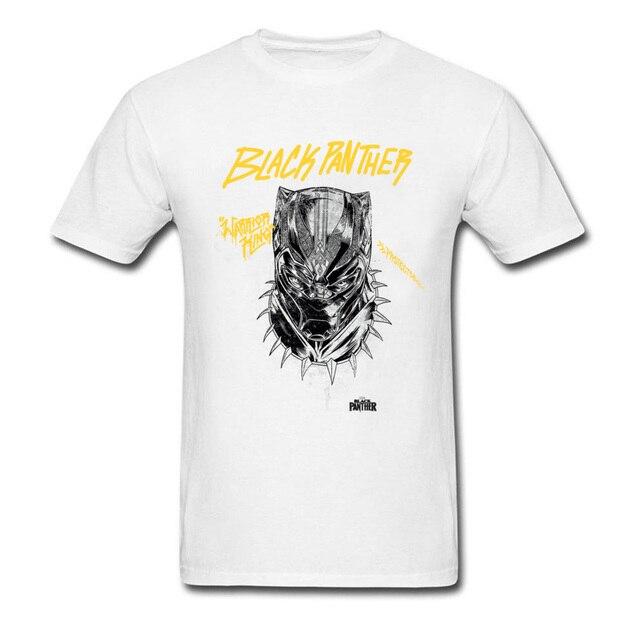 0a0595e683b5 Marvel Protector Men T Shirts Custom Black Panther T Shirt Wakanda ...