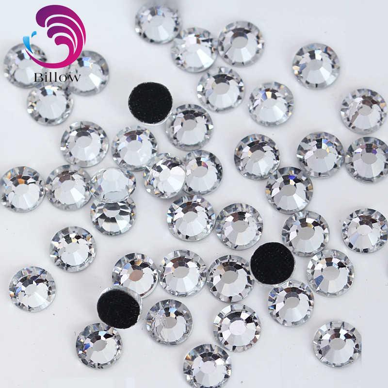 SS4~SS50 Crystal DMC Hot Fix Rhinestone Flatback Glass Crystal DMC Hotfix  Rhinestones Iron On bf3f48e1a05f