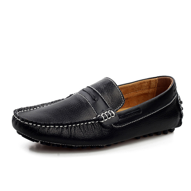 Mens genuine leather shoes driver