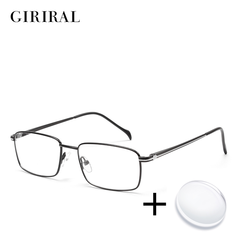 Metal Men Prescription Glasses Lenses Retro Optical Brand Myopia Designer Clear Spectacle Frame #ZF1018PL