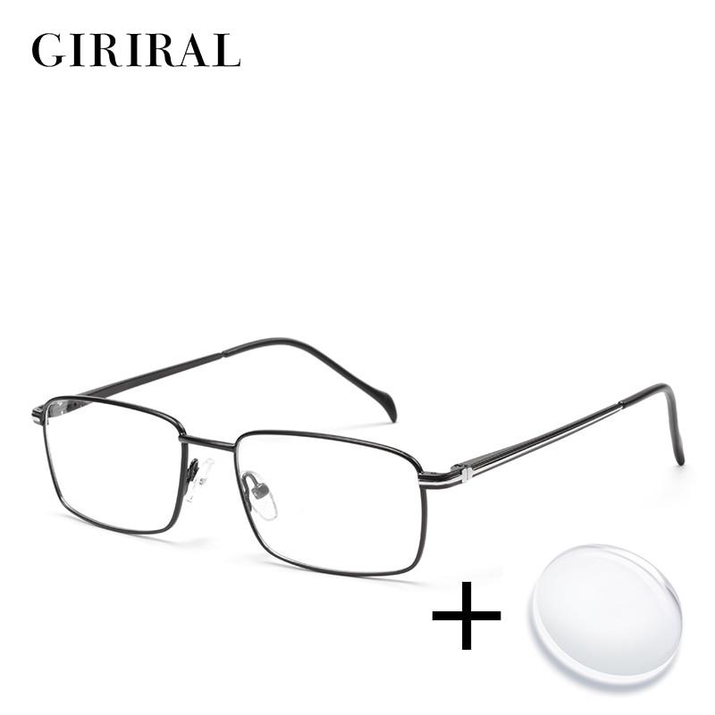 Metal Men Prescription Glasses Lenses Retro Optical Brand Myopia Designer Clear Spectacle Frame #ZF1018PL