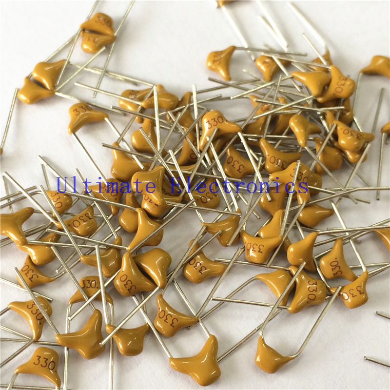 100pcs/lot  Multilayer Ceramic Capacitor 330 50V 33pF 330M P=5.08mm