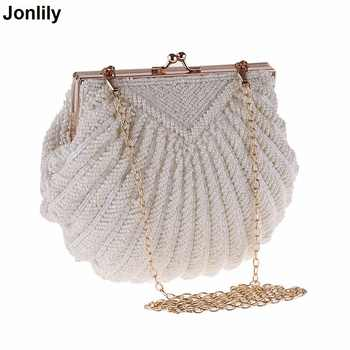 Evening Bags Women Clutch Bags Evening Clutch Bags Wedding Bridal Handbag Pearl Beaded Fashion Shell Chain Party Bags LI-383 - DISCOUNT ITEM  47% OFF All Category