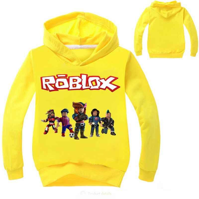 b5a48d5b76ac 2-12Years Top Roblox Shirt Boys Hoodies Teenagers Ape Girls Sweatshirt  Bebes Kids Jumper Fall