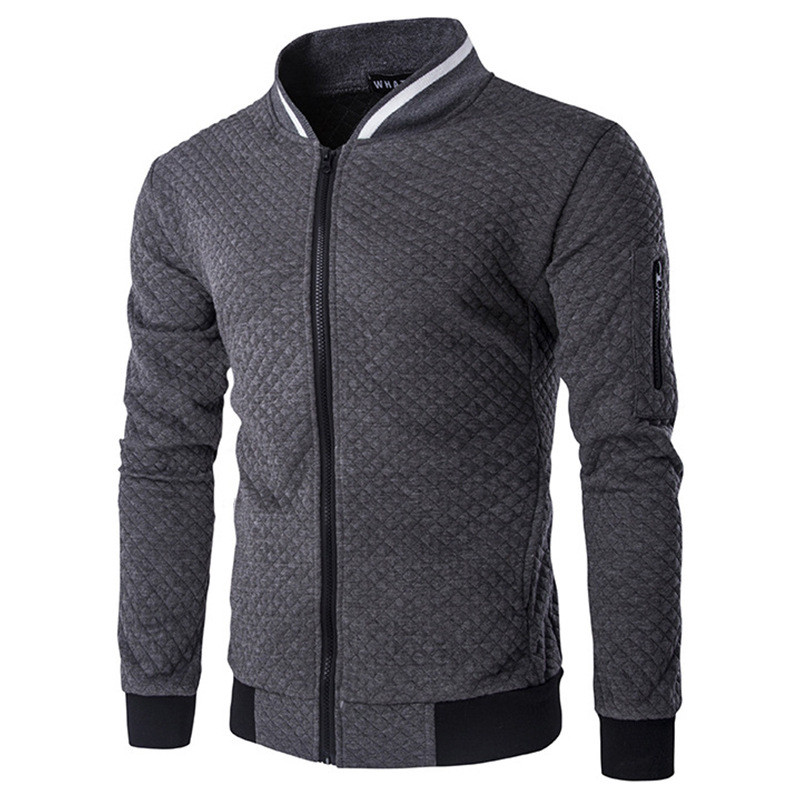 2017 New Men S Jacket Zipper Design Mens Outerwear Coats Stand Neck High Quality Mens Autumn
