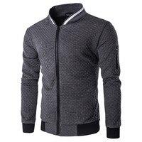 2017 Nouveaux Hommes de veste Zipper Conception Mens Survêtement Manteaux Pied de Col de Haute Qualité Mens Automne Sweat Marque-Vêtements hommes