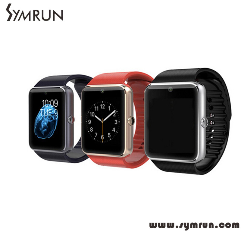 Symrun Original GT08 Bluetooth smart watch SIM TF Card For Ios Android Phones with camera facebook