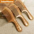 Top grado del pelo de ébano peines precious sudamericana verde macassar madera artesanía exquisita fragancia de sándalo puro regalos hechos a mano