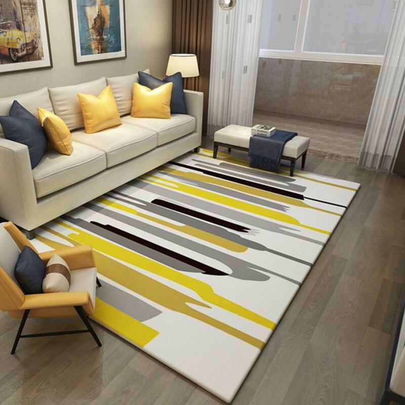 Style européen grands tapis pour salon anti-dérapant chaise de bureau tapis de sol maison chambre tapis et tapis tapis de Table basse