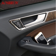 Automotive inner door wrist decorative frame, stainless steel inner door wrist posted for audi Q5 2009-2015 car-styling AUTO